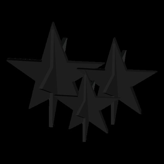 Billede af Stjerner, sæt med 3 stk. – sort