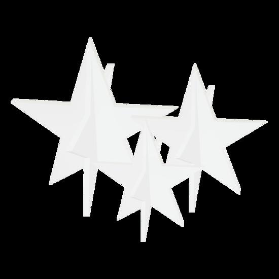 Billede af Stjerner, sæt med 3 stk. – hvid