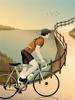 Billede af CYCLING THE HILLS 30x40 Plakat