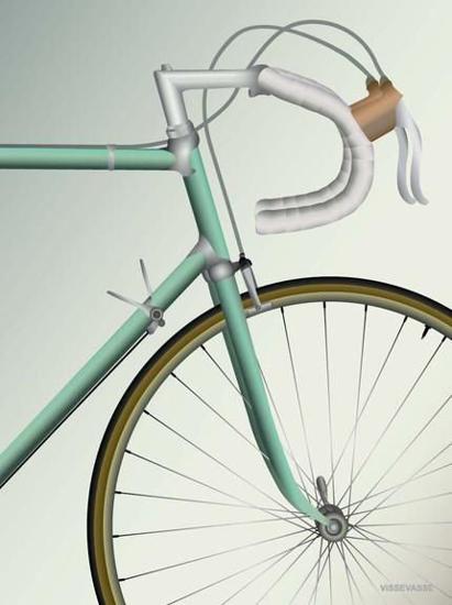 Billede af RACING BICYCLE 30x40 Plakat