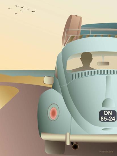 Billede af VW BEETLE 30x40 Plakat