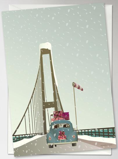 Billede af DRIVING HOME FOR CHRISTMAS Anledningskort