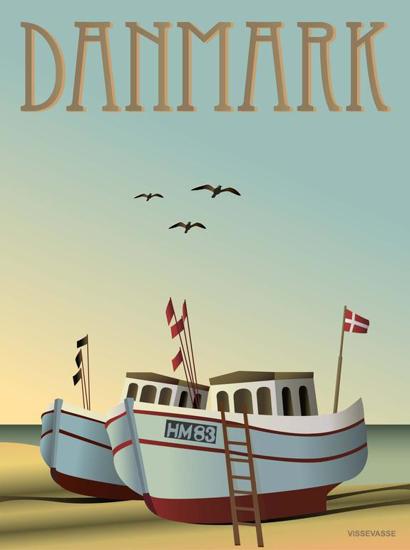 Billede af DANMARK Fiskebådene, 15x21cm