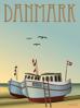 Billede af DANMARK Fiskebådene, 50x70cm