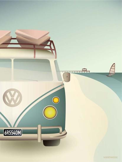 Billede af VW CAMPER 50x70 Plakat