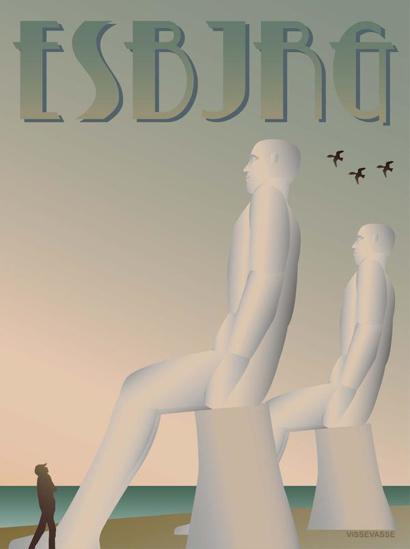 Billede af ESBJERG Mændene 30x40 Plakat