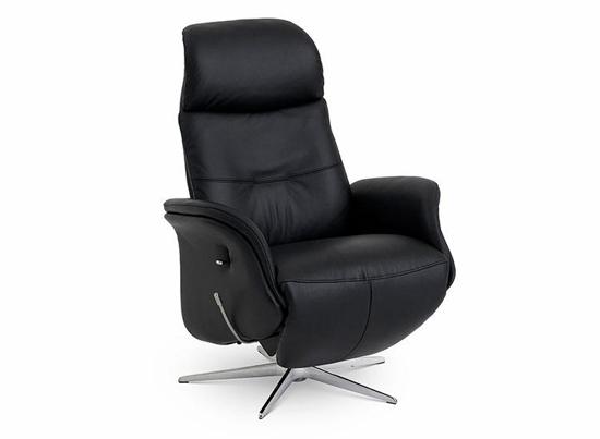 Billede af Global Comfort Denver small lænestol med indbygget fodskammel