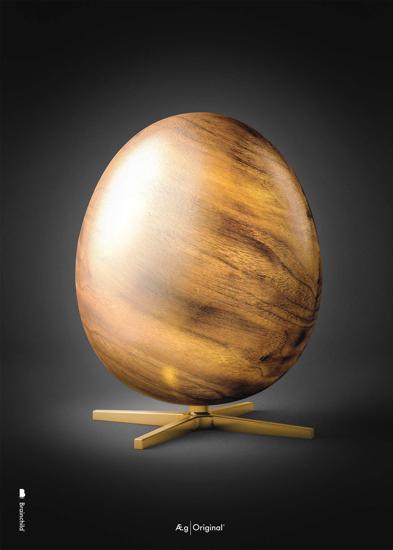 Billede af Brainchild Ægget figur plakat sort, 70x100