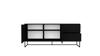 Billede af LIPP Skænk m. 2 låger og 2 skuffer, 176cm, sort