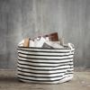 Billede af Opbevaring, Stripes, Sort/Hvid, Dia.: 40 cm h.: 25 cm