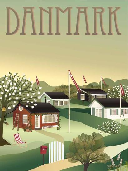 Billede af Danmark Kolonihaverne 30x40 Plakat