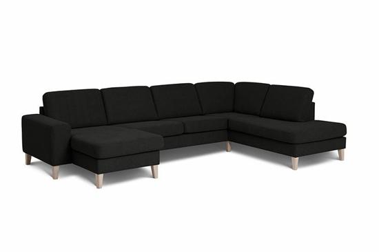 Billede af Visby sofa med chaiselong og open end