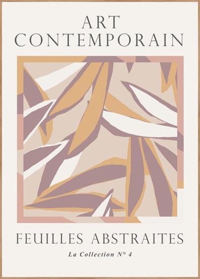 Billede af Feuilles abstraites 3, 50x70cm