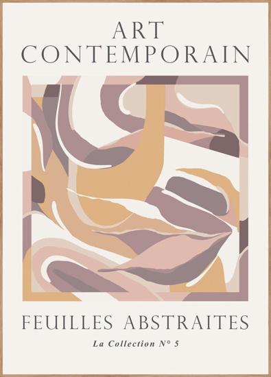 Billede af Feuilles abstraites 4, 50x70cm