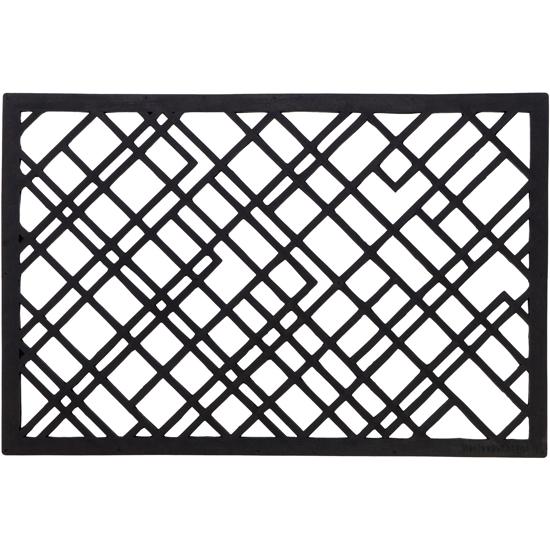Billede af Lines gummi dørmåtte, 60x90cm