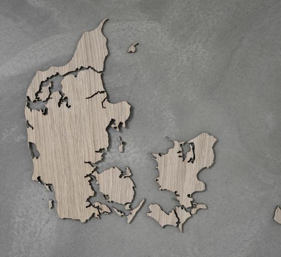 Billede af Danmarkskort, M