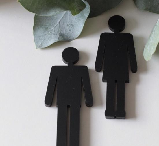 Billede af Toilet piktogram, mand & dame - M