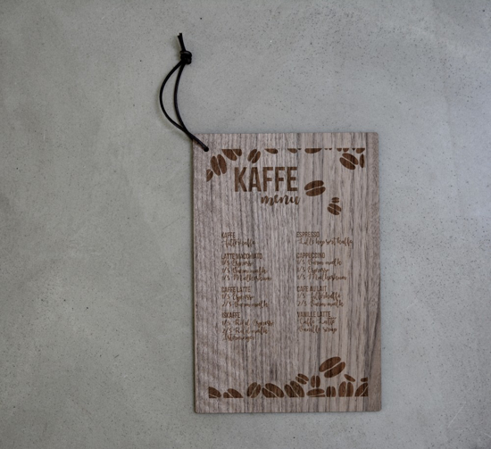 Billede af Tavle m. kaffeopskrifter